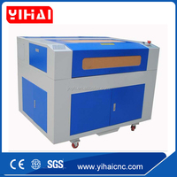 YIHAI China factory best price cnc laser engraving and cutting machine for MDF acrylic nd glass 1280