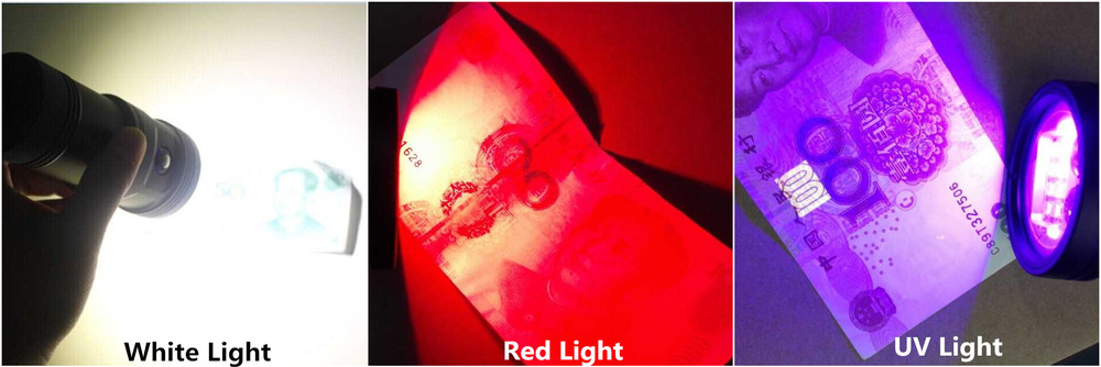 Hi-max Professional Scuba Diving Equipment Wide Spot Red UV Led Lighting Underwater Video Light
