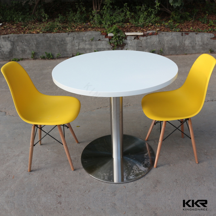 Modern Round Artificial Stone Marble Top Solid Surface Restaurant Dining Table And Chairs