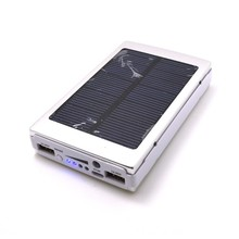 New Rainproofsolar charger cell phone mobile solar power bank 20000mah, mobile power supply