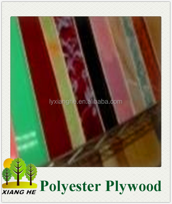 Fashion Design Furniture Grade Colorful Polyester Plywood