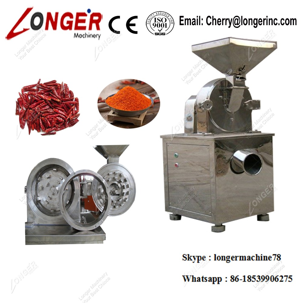 Automatic Sugar Powder Grinding Machine Stainless Steel Herbs Crushing Machine