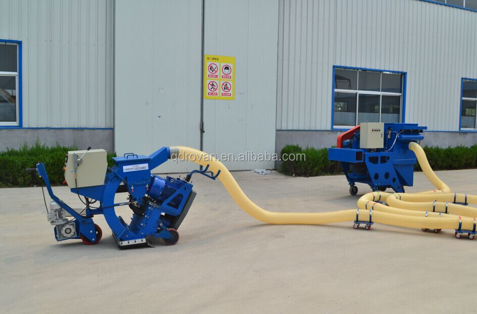 shot blasting machine for concrete with steel shot recycling system