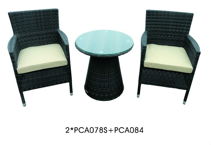 Estilo 2 plazas rattan balc n jard n muebles de jard n de for Conjunto muebles balcon