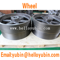 China high precision machining custom steel drive pulley/casting power wheel