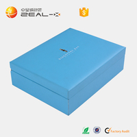 Big Discount US Best Sell HIgh End Plastic Mould With EVA Padding Blue PU Leather Tablet Box