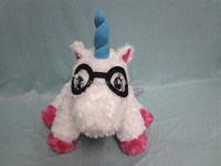 customed CPSIA certificated plush unicorn glass case