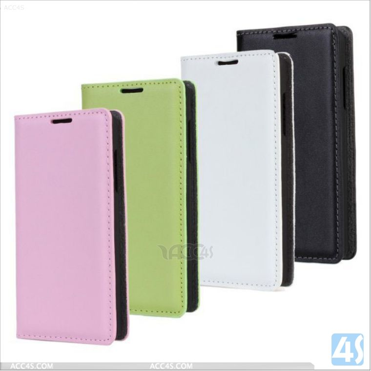 Genuine gel leather wallet flip cover case for huawei ascend y300