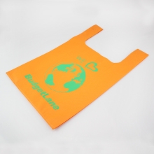 Hot Selling Cheap T-shirt Non Woven Bag, Non Woven T-shirt Bag, Non Woven Vest Style Bag