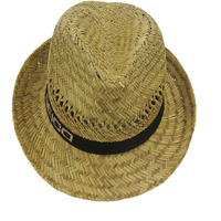 Natural color hollow straw hats