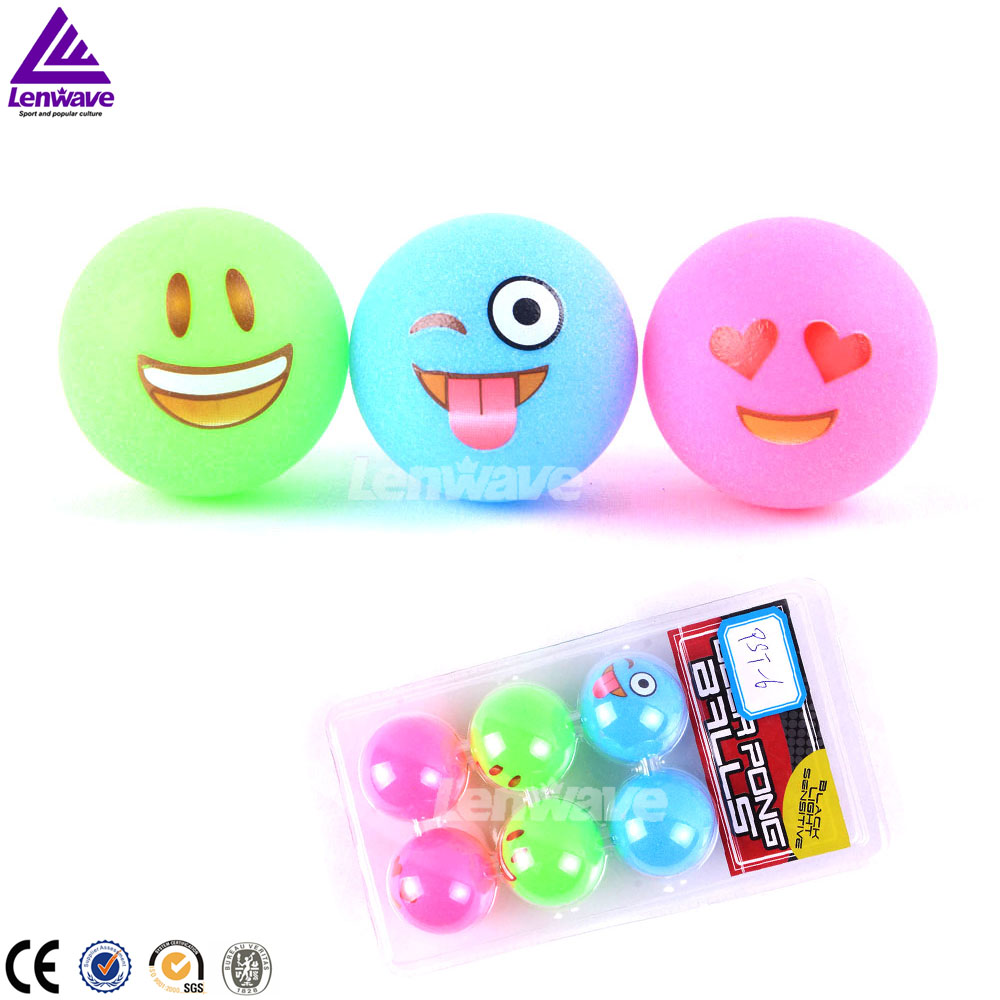 2017 cute cartoon style wholesale color ping pong ball