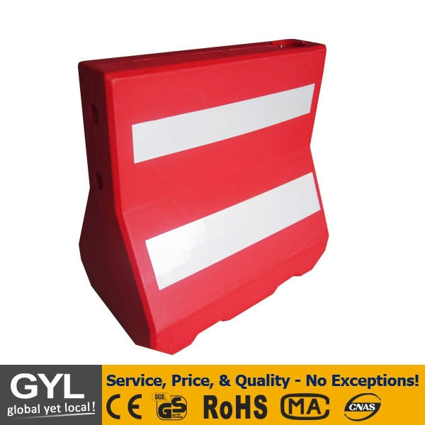 red blowing plastic road safety traffic barrier