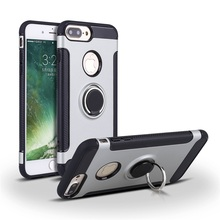 Multi Functional Case Stand Cover And Car Magnetic Suction Antiskid Phone Case For iPhone 7 Plus