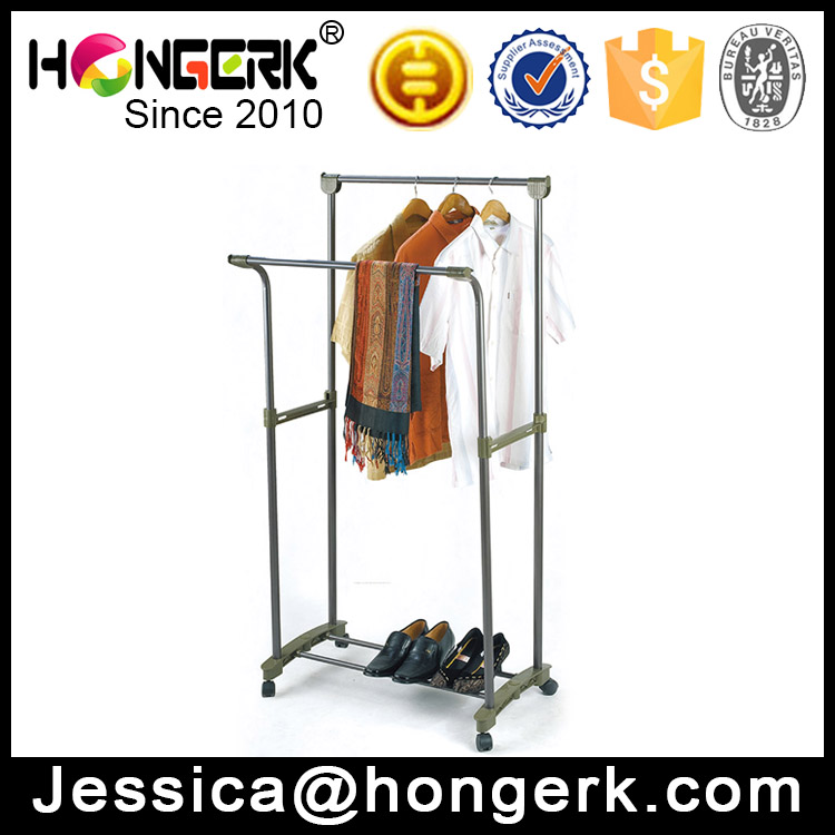 adjustable bedroom clothes hanger stand with wheels