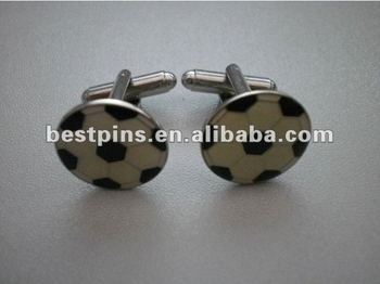 enamel custom football logo cuff links