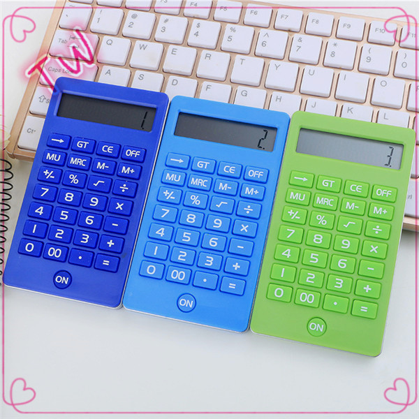 China yiwu Factory custom School stationery hot selling colored plastic mini scientific calculator with solar power