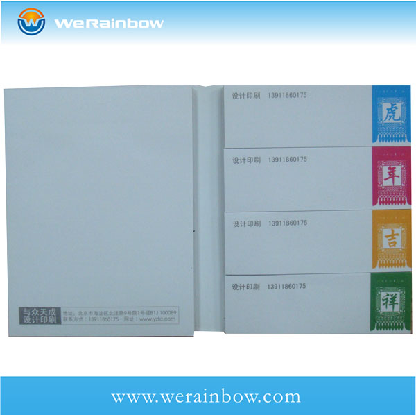 color printing sticky notepad with calendar
