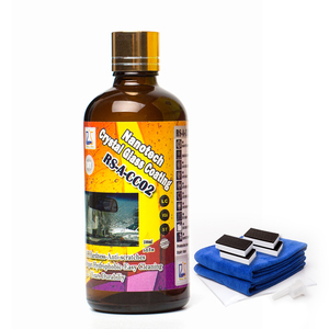 Nano Super Hydropobic Water Repellent and Self Cleaning Liquid Glass Coating for Car Windshield 100ml kits
