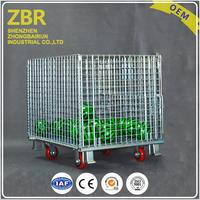 Wholesale Price Heavy Duty Collapsible Stacking Crates Foldable And Demountable Wire Mesh Storage Container Cage Pallet