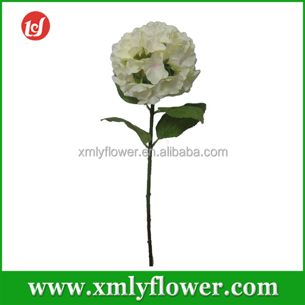 H80CM Artificial Single Long Stem Fabric Hydrangea Flowers