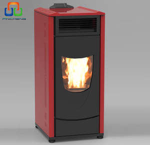 multi fuel red cast iron material wood pellet stove