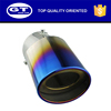 Circular Incision Custom Blue Muffler Exhaust Tail Pipe