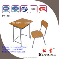 Metal frame commercial cheap price student desk and chair