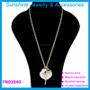 Sunshine long fashion necklaces for women 2015 heart crystal pendant necklace