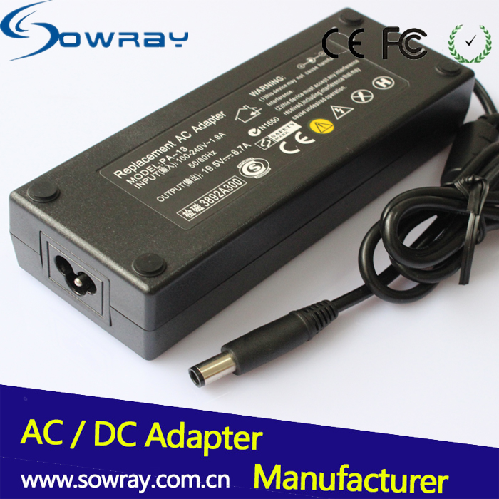 2015 New Universal Laptop AC/DC Power Adapter 19.5v 6.7a 130w 7.4*5.0mm For Dell