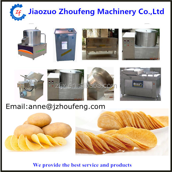 Small scale automatic fried potato chips making machine price industrial french fries production line