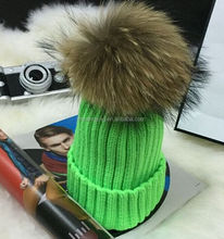 Shoes /Women Caps Decoration Raccoon Fur Trimming Wholesale Fur Ball Stud With Crystal