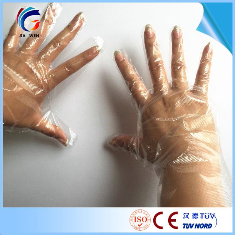 with factory price oem customized disposable food grade medical pe gloves