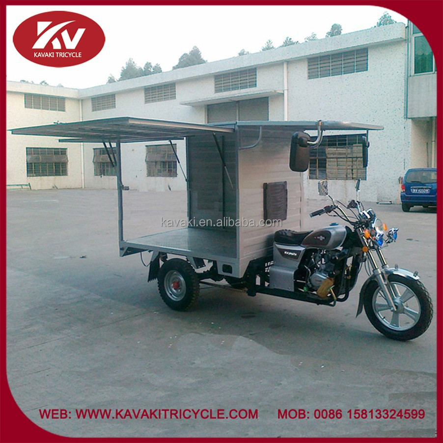 China factory produce 200cc gasoline air-cooled closed cabin cargo tricycle