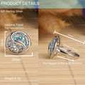 New design alibaba wholesale high quality hand set topaz 925 ring 925 sterling silver round shape designer ring women wedding ri