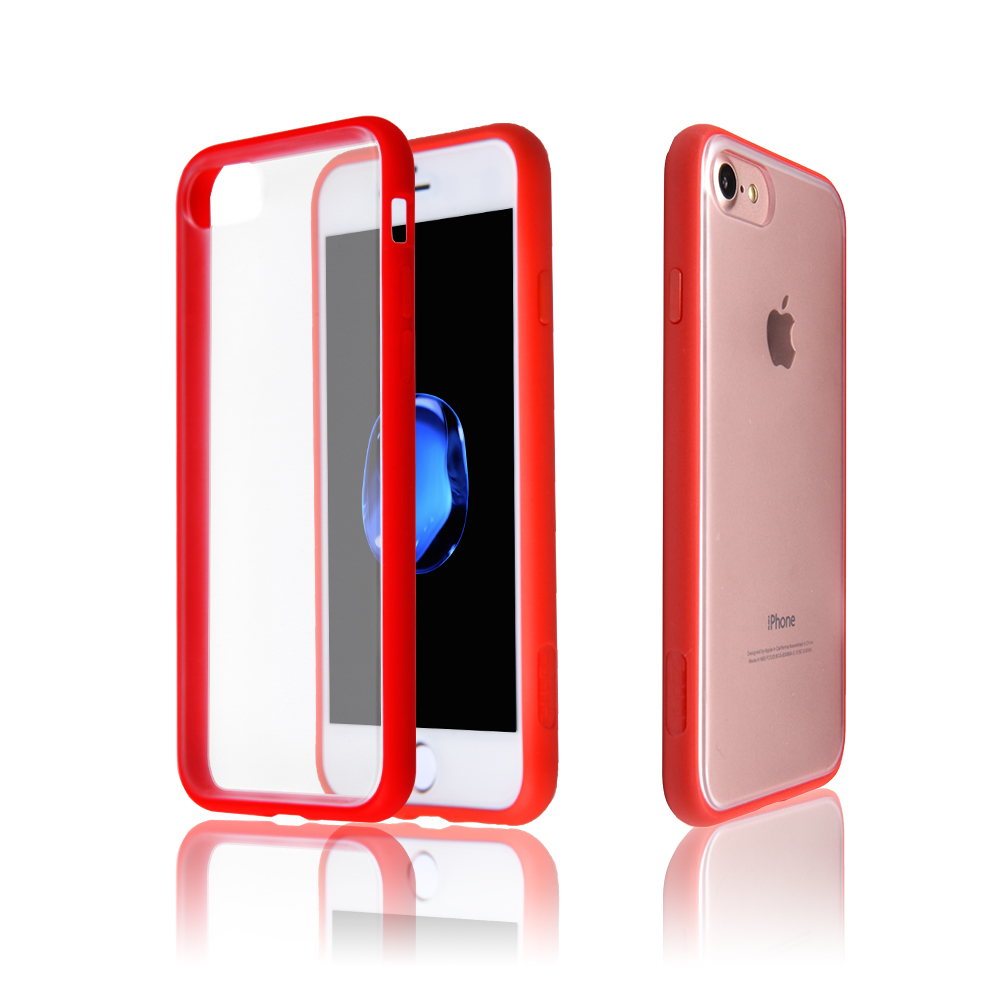Translucent Hard Back Panel Cover For iPhone 8 Plus Case, Shock Absorbing Soft TPU Bumper Phone Case For iPhone 8 Plus