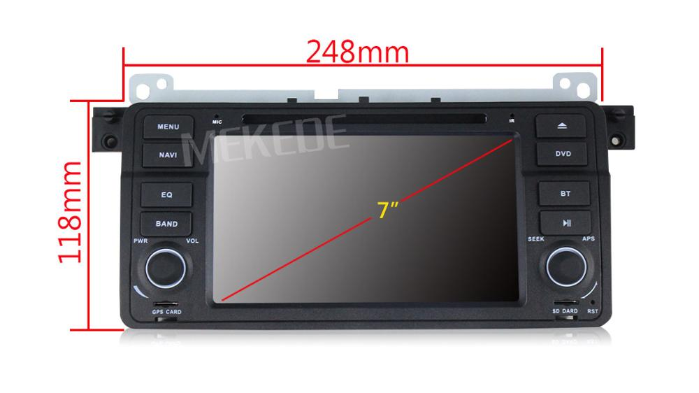 MEKEDE favorable price car dvd player for B MW E46 (1998-2005) B MW M3(1998-20 with android 7.1 quad core built up wifi