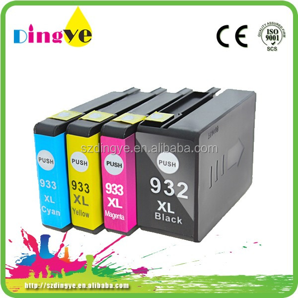 Ink Cartridges For Hp932 for Hp933 For hp 6100 6600 6700 7110 7610 7612
