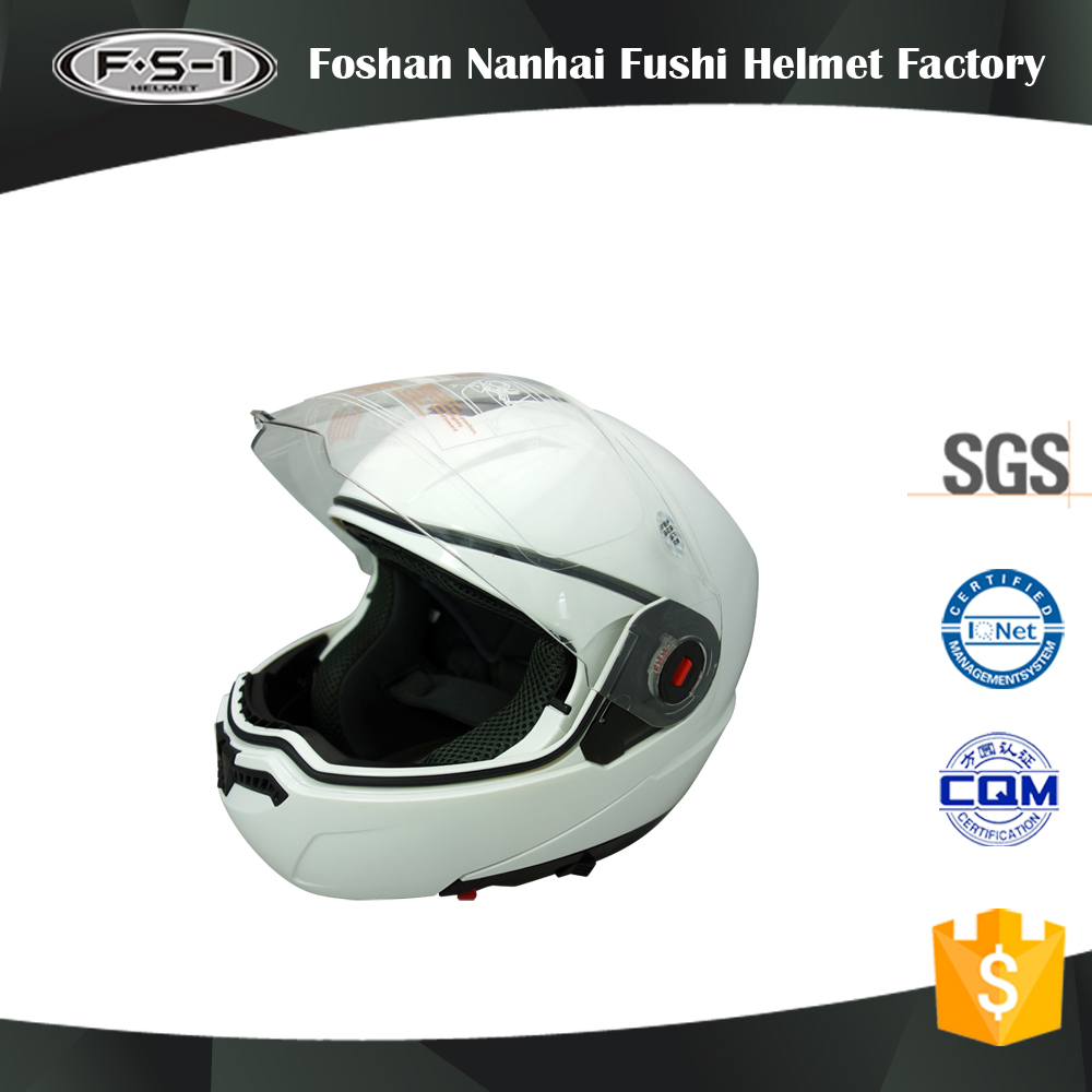 DOT approve white color flash full face superman motorcycle helmet image