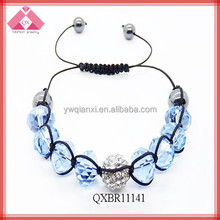 Fashion Charm Braided Shamballa crystal beads bracelets (QXBR11141)