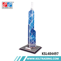 14pcs diy build my world 3d puzzle bank of china tower