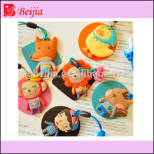 Custom fashion popular cute soft recycled rubber phone dust plug anti dust plug plug stopper earphone anti dust