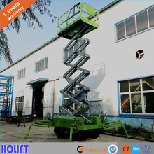 2016 New Design Crawler type Electric Hydraulic self-propelled scissor lift with hydraulic legs