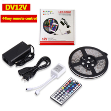 Waterproof <strong>RGB</strong> 5m Strip Light 44Key IR Remote Controller DC 12V Power Supply 5050 60LED LED Strip Light Kit