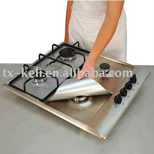 Antiadherente cocina de gas protectores de liners set de 4 surtido de piezas identificaci n del - Protector antisalpicaduras cocina ...