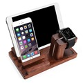 100% Natural Bamboo Wood Charging Stand Bracket Docking Station Stock Cradle Holder for pad watch phone