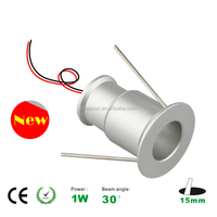 wholesale new design 3-3.4V/300-350mA 15mm 1w ktv room downlight 1 watt 30D degree 95LM CE and ROHS 3 years warranty