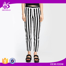 Summer Polyester Women Customized Outdoor Sexy Stripe Printed Pants
