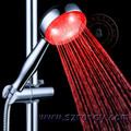 Red Color 3 leds water softner hand shower head in stock, factory direct priced spray LD8008-A18