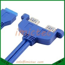 2 Ports USB 3.0 Type A Female to Motherboard 20 Pin Header Male Cable USB3.0 20pin to 2 Ports Female Cables