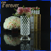 artifical glass flower vase for wedding decoration